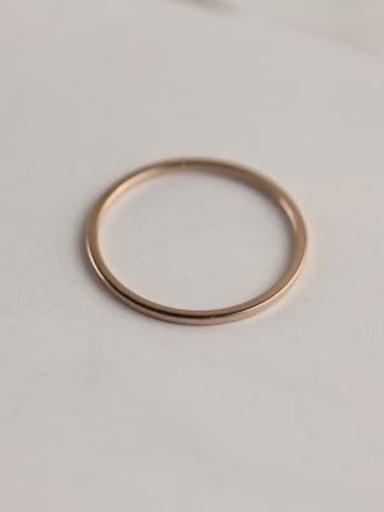 Simple Single Line Smooth Ring