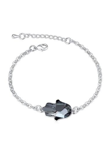 Simple Little Palm Swarovski Crystal Alloy Bracelet