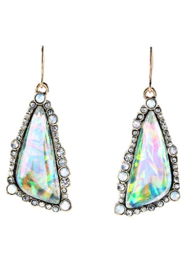 Alloy Luxury Irregular Artificial Gemstones drop earring