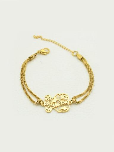 Lovely Bear Double Lines Women Bracelet