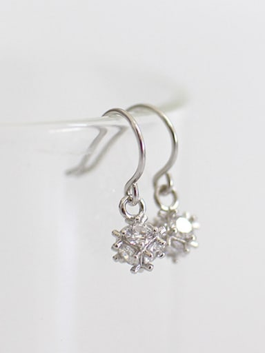 Fashion Cubic Zircon-studded little Bead Silver Earrings