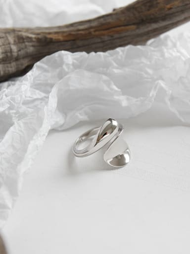 925 Sterling Silver With Platinum Plated Simplistic Water Drop Rings