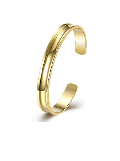 18K Gold Round Shaped Glossy Bangle