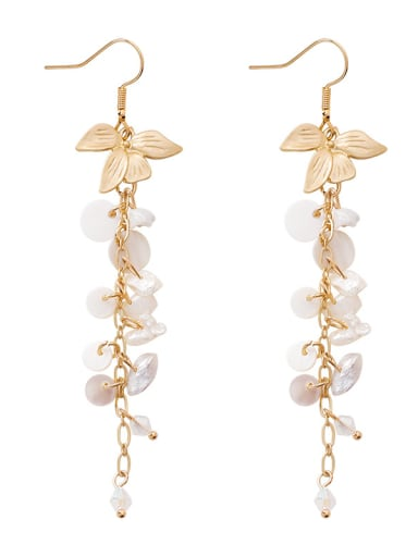 Alloy With Gold Plated Fashion Charm Hook Earrings