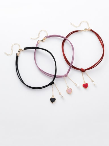 Alloy With Rose Gold Plated Simplistic Heart Necklaces