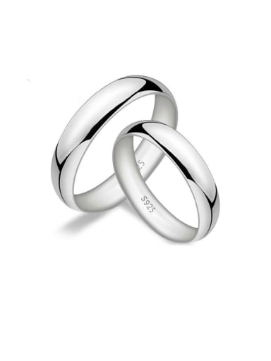 925 Sterling Silver With Glossy  Simplistic Loves  Rings
