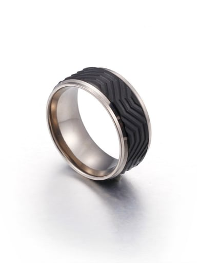 Stainless Steel With White Gold Plated Trendy Coat Of Arms Rings