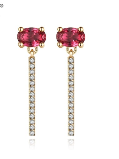 Copper With 3A cubic zirconia Fashion Geometric Stud Earrings