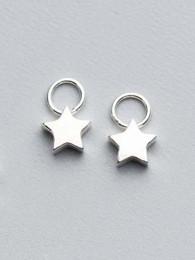 925 Sterling Silver With Silver Plated Simplistic Star Charms