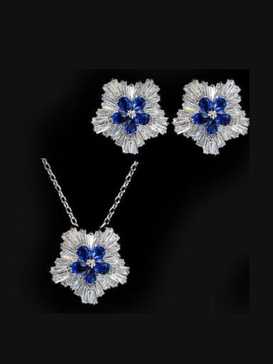 Star Shaped stud Earring Necklace Jewelry Set