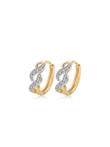 Copper Alloy 18K Gold Plated Fashion Zircon stud Earring