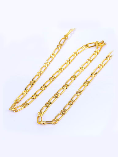 Copper Alloy 24K Gold Plated Simple style Men Necklace