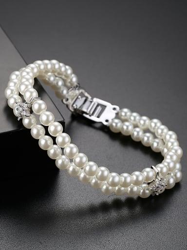 AAA zircon synthetic pearl bracelet