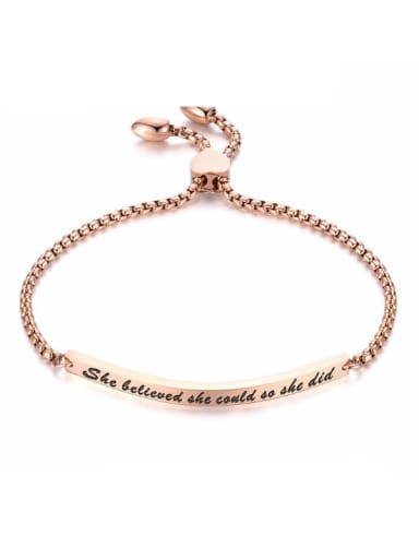 Stainless Steel With Rose Gold Plated Personality Chain Bracelets