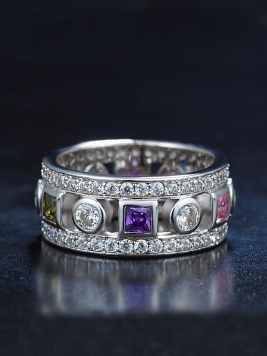 Multi-color Zircon Ring