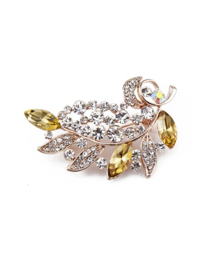 2018 2018 2018 2018 2018 2018 Rose Gold Plated Crystals Brooch