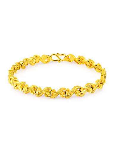 Exquisite 18K Gold Plated Letter S Shaped Copper Bracelet
