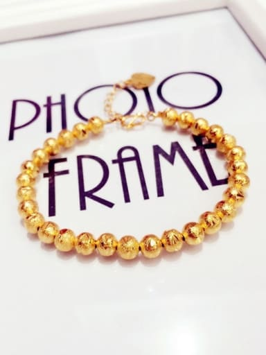 Women Exquisite Gold Plated Beads Bracelet