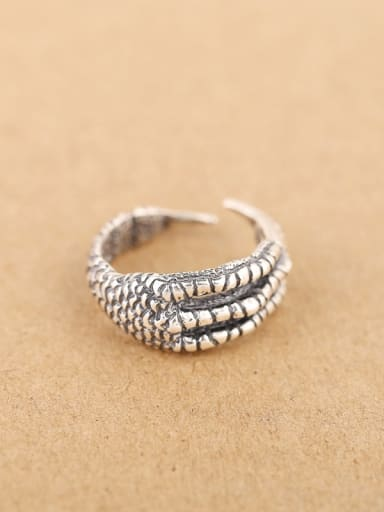 Punk Claws Silver Opening Ring