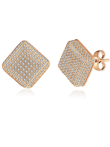 Gold Plated Zircon stud Earring