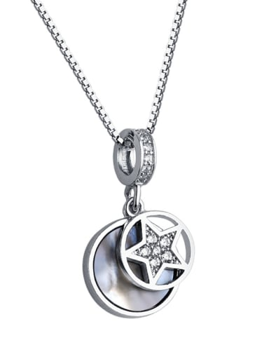 925 Sterling Silver With Shell  Fashion Star Necklaces