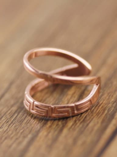 Women Rose Gold Plated Open Ring