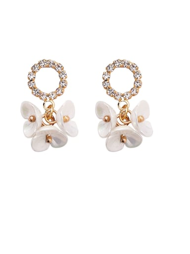 Alloy With Rose Gold Plated Cute  Shell Flower Stud Earrings
