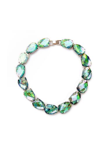 Shining Artificial Stones Necklace