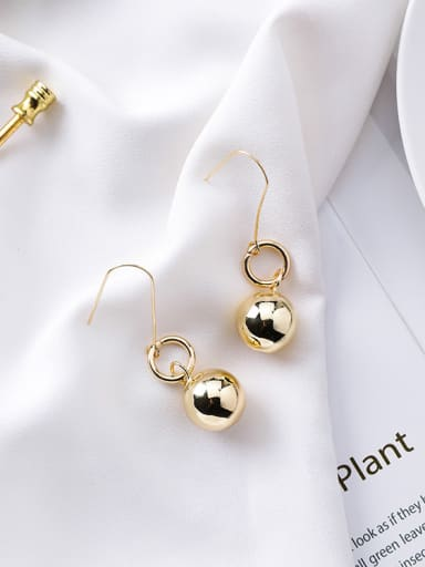 Alloy With Gold Plated Casual Ball Drop Earrings