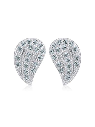 Creative Dumplings-shape Zircons Stud Earrings