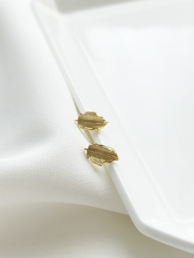 Sterling Silver Gold leaf Ear Studs