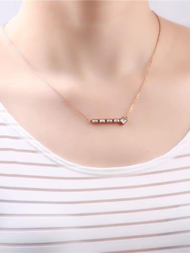 Zircon Fish Bone Pendant Birthday Necklace