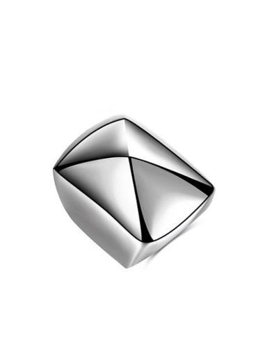 Personality Diamond Shaped Titanium Men Ring