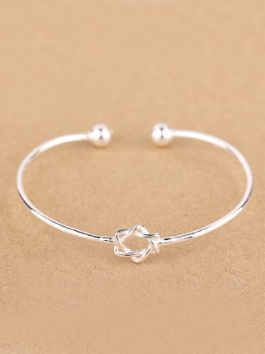 Simple Six-pointed Star Opening Bangle