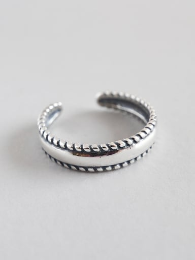 925 Sterling Silver With Antique Silver Plated Vintage Rings
