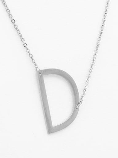 English A-Z Titanium Clavicle Letter Necklace