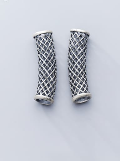925 Sterling Silver With Antique Silver Plated Personality Geometric Wire Guards