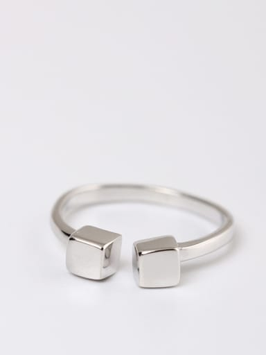 Shining Simple Style Opening Ring
