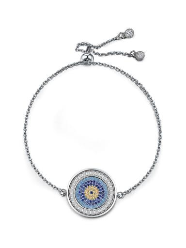 Stylish and creative type of zircon disc Bracelet