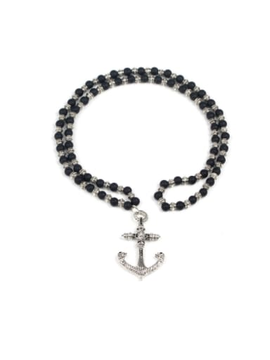 Skull Cross Anchor Metrosexual Personality Men Necklace
