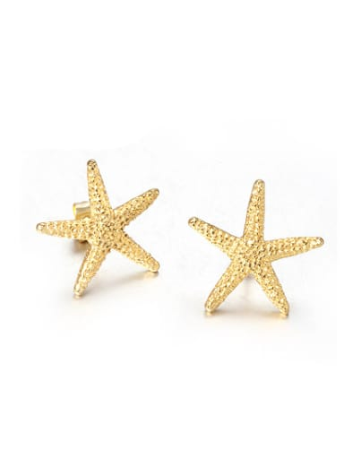 Exquisite Gold Plated Star Shaped Rhinestones Stud Earrings