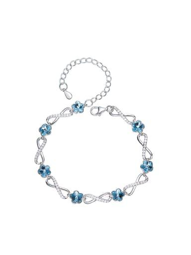 Fashion Flowery Swarovski Crystals Zircon Bracelet