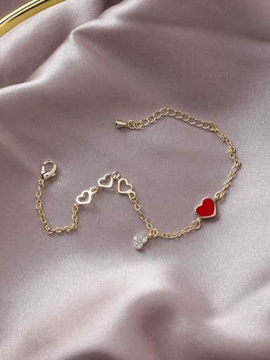 Alloy With Gold Plated Fashion Heart Bracelets