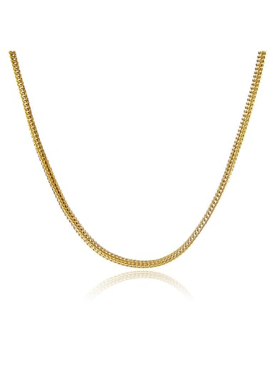 Women Exquisite 24K Gold Plated Geometric Shaped Necklace