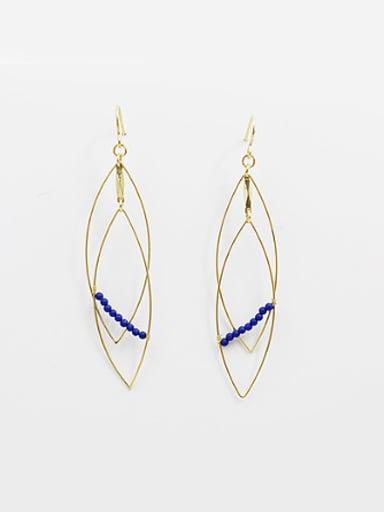 Fashion Double Layer Diamond Shaped Beads Earrings