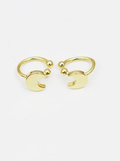 Creative 16K Gold Plated Moon Shaped Earrings