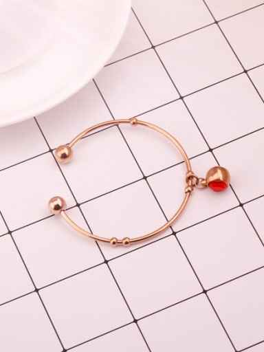Red Stone Opening Fashion Bangle
