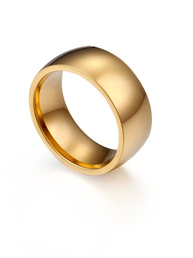 Stainless Steel With Gold Plated Trendy Rings