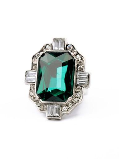 Fashion Emerald Glass Stones Alloy Ring