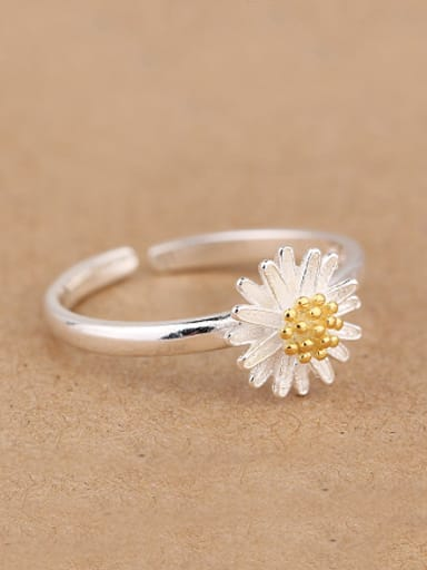 Fashion Daisy Flower Opening Midi Ring